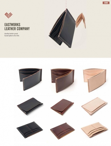 eCommerce website: Eastworks Leather Company