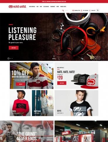 eCommerce website: Ecko Unltd.
