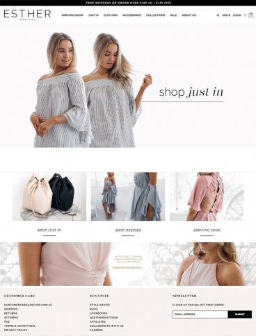 eCommerce website: Esther