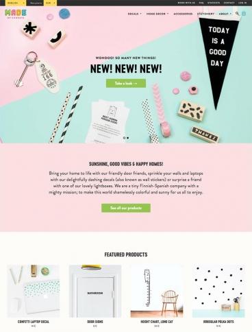 eCommerce website: Made of Sundays