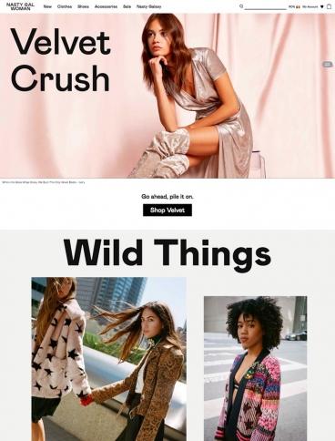 eCommerce website: Nasty Gal