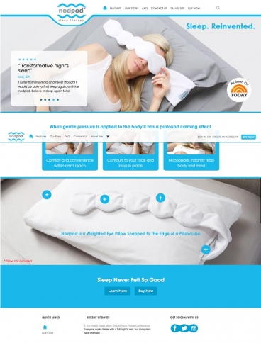 eCommerce website: nodpod