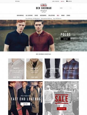 eCommerce website: Ben Sherman