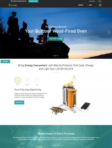 eCommerce website: Biolite