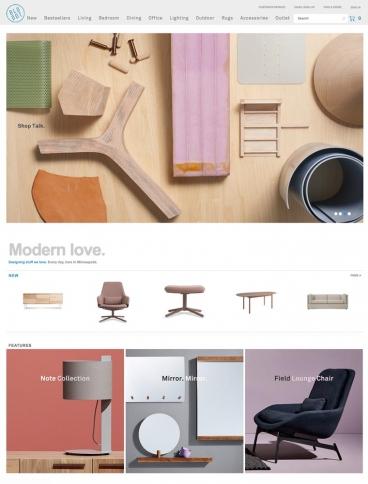 eCommerce website: Blu Dot