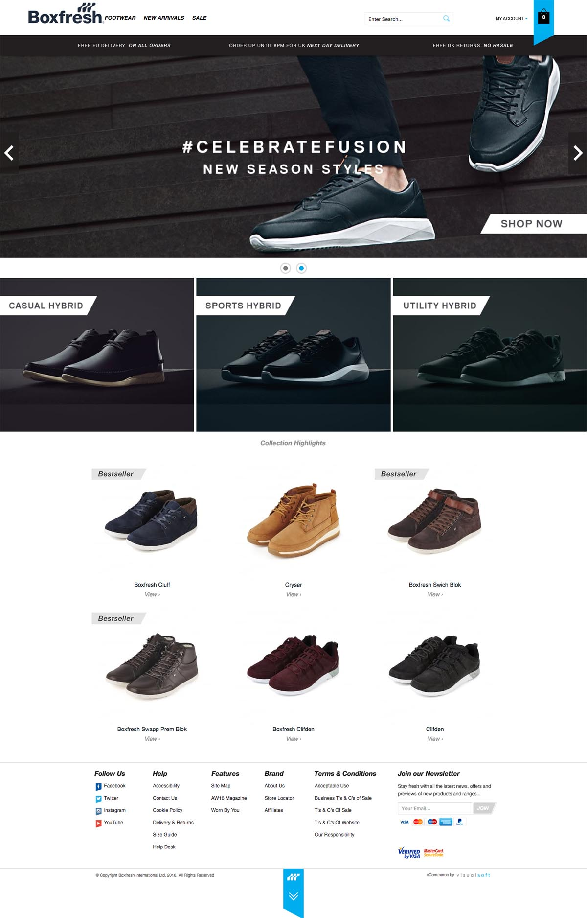eCommerce website: Boxfresh