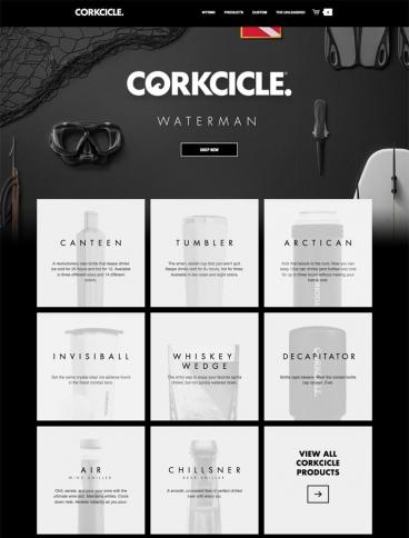eCommerce website: Corkcicle