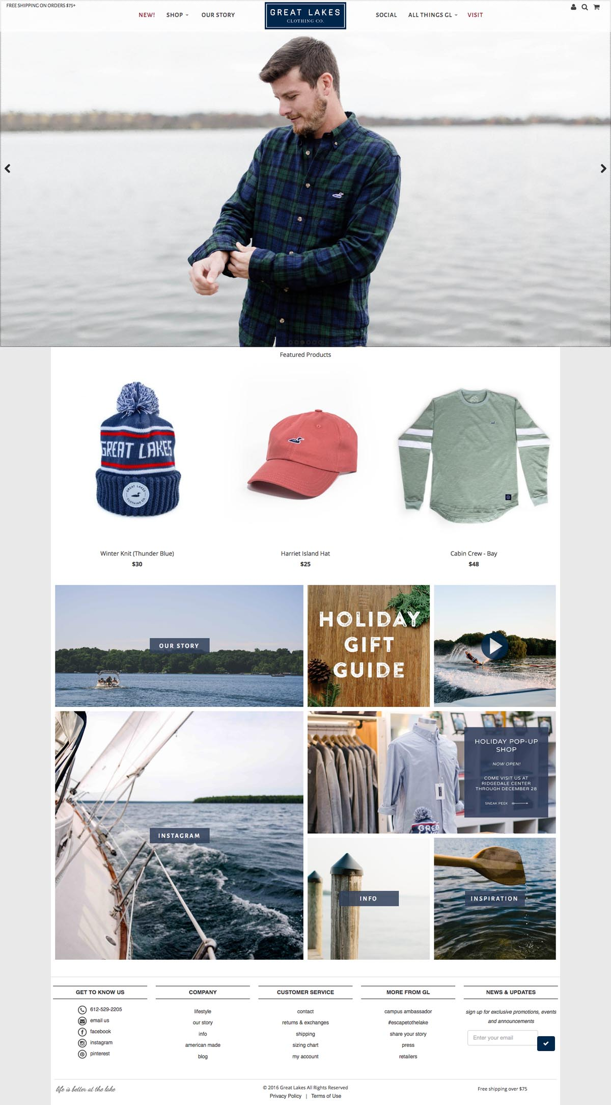 eCommerce website: Great Lakes