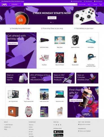 eCommerce website: Jet