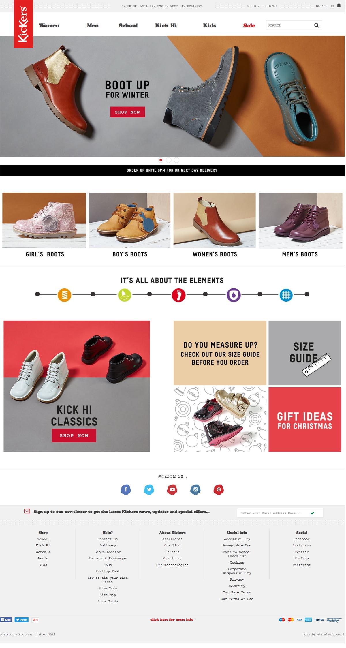 eCommerce website: Kickers
