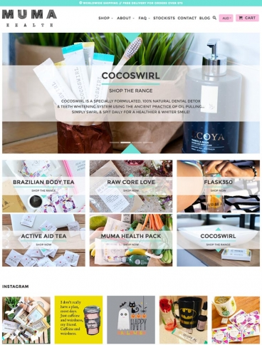 eCommerce website: Muma Health