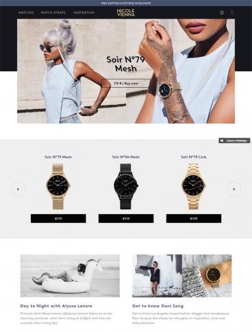 eCommerce website: NicoleVienna