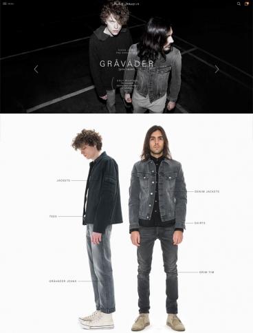 eCommerce website: Nudie Jeans Co
