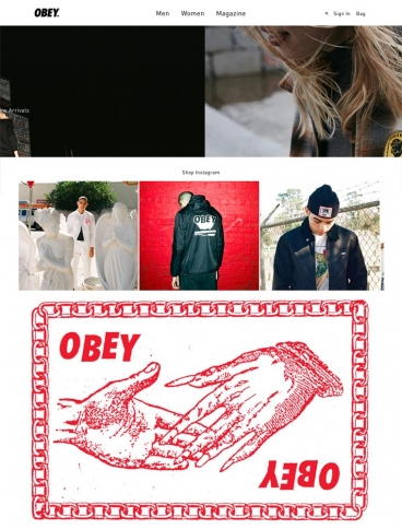 eCommerce website: OBEY Clothing