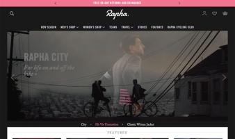 eCommerce website: Rapha