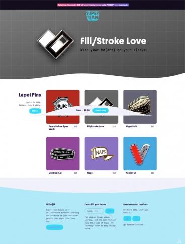 eCommerce website: Super Team Deluxe