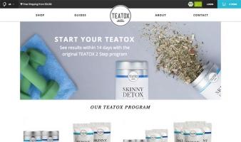 eCommerce website: Teatox