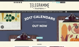 eCommerce website: Telegramme Paper Co.