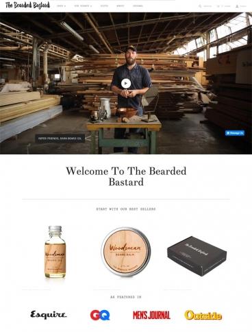 eCommerce website: The Bearded Bastard
