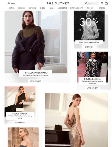 eCommerce website: The Outnet