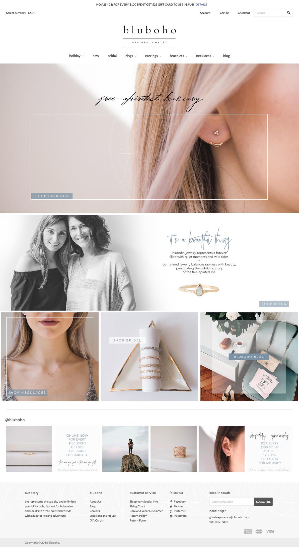 eCommerce website: bluboho