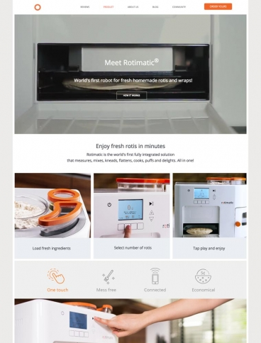 eCommerce website: Rotimatic