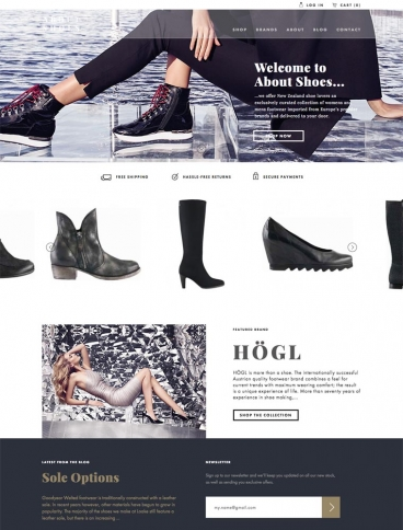 eCommerce website: About Shoes