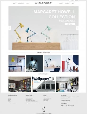 eCommerce website: Anglepoise