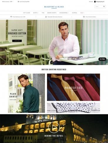 eCommerce website: Beaufort & Blake