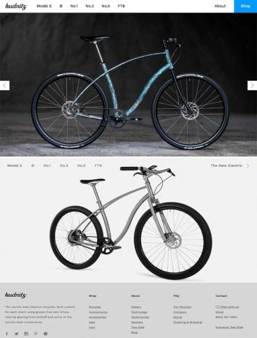eCommerce website: Budnitz Bicycles