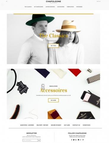 eCommerce website: Chapoleone