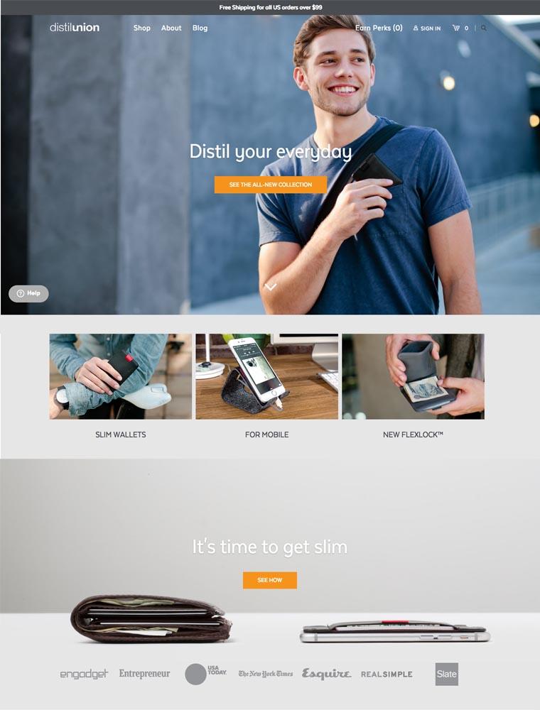 eCommerce website: Distil Union