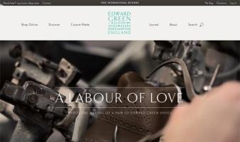 eCommerce website: Edward Green