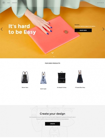 eCommerce website: IF Bags