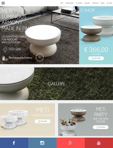 eCommerce website: Metidesign
