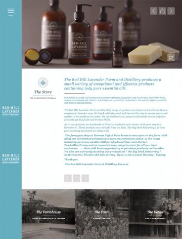 eCommerce website: Red Hill Lavender Farm & Distillery