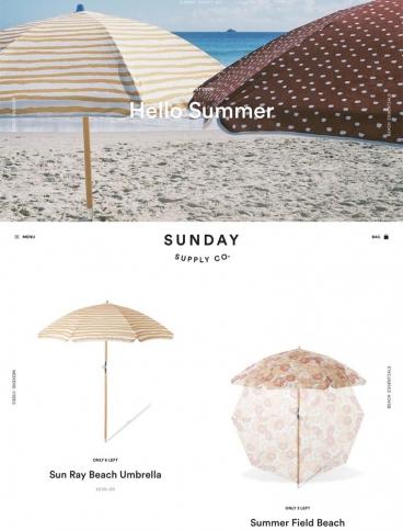 eCommerce website: Sunday Supply Co.