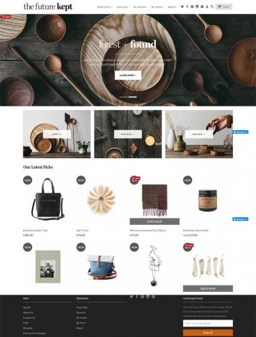 eCommerce website: The Future Kept