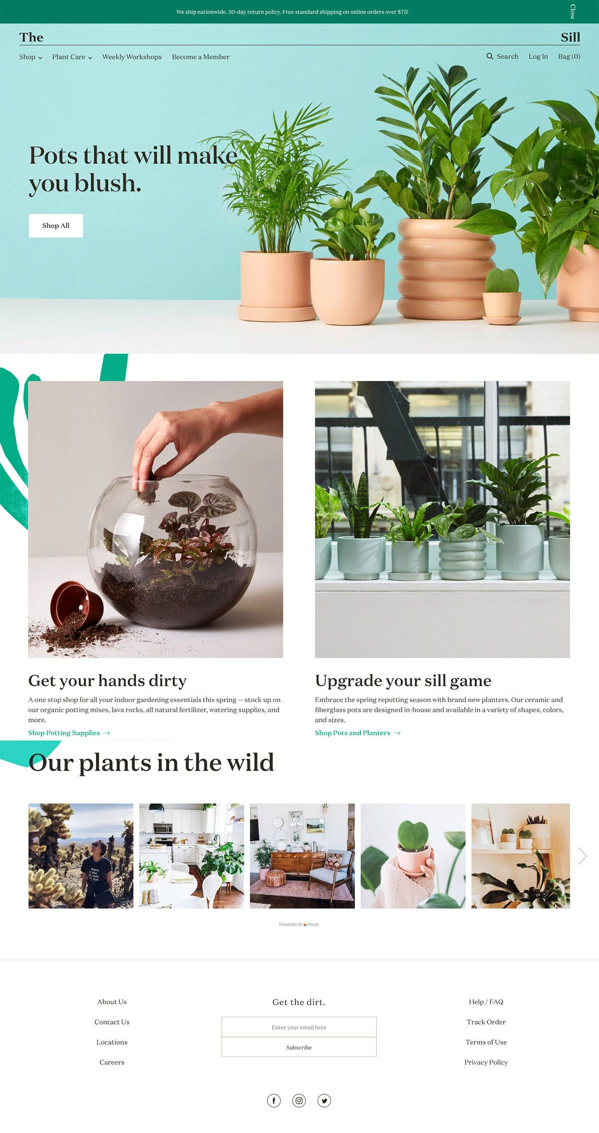 eCommerce website: The Sill