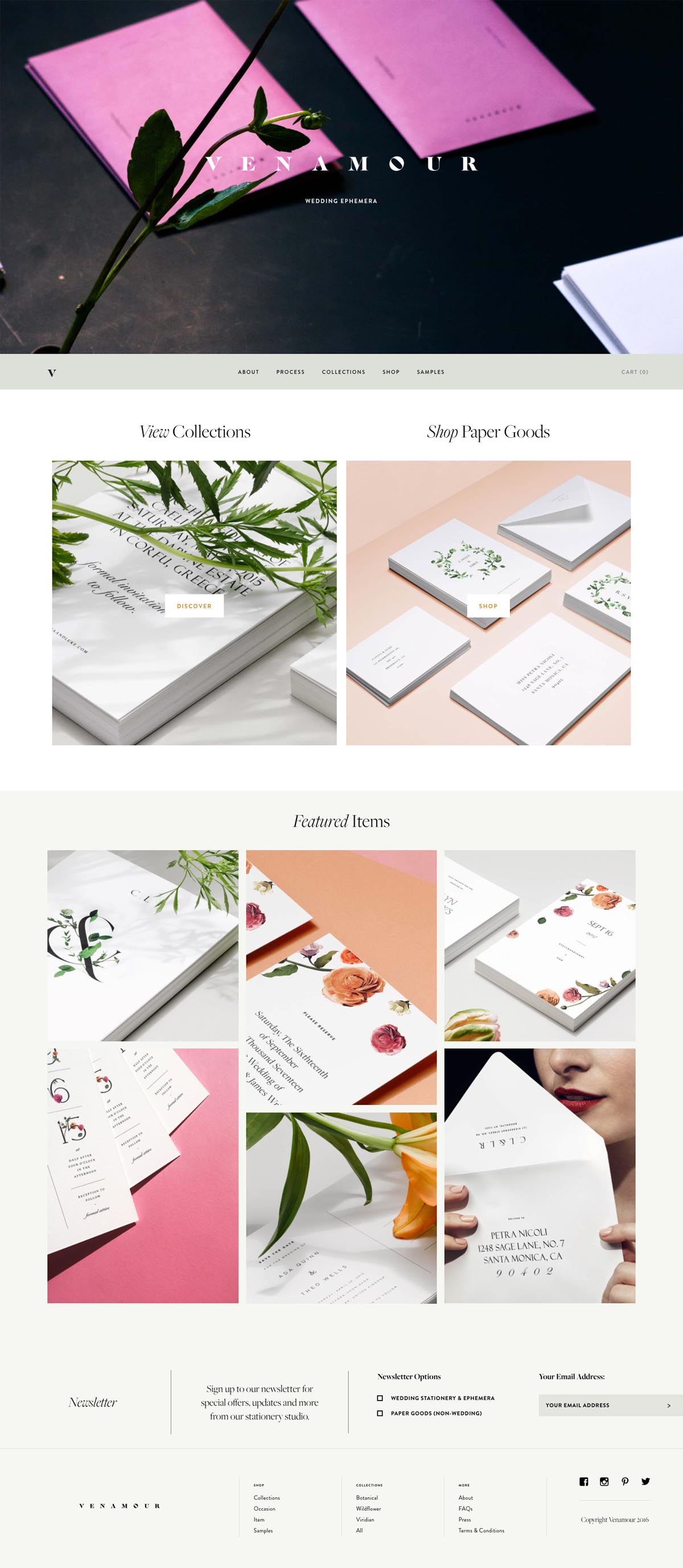 eCommerce website: Venamour