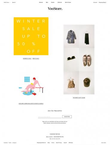 eCommerce website: Voo Store