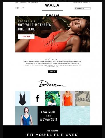 eCommerce website: Wala Swim