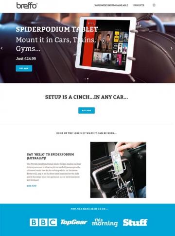 eCommerce website: breffo
