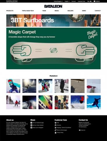 eCommerce website: Bataleon Snowboards