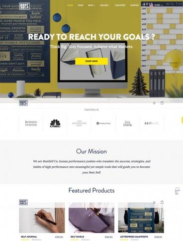 eCommerce website: Best Self