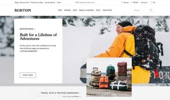eCommerce website: Burton Snowboards