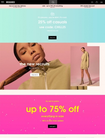 eCommerce website: Missguided