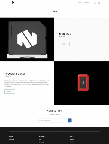 eCommerce website: Nifty
