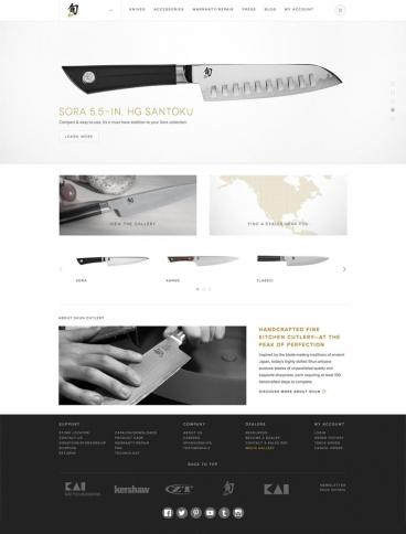 eCommerce website: Shun Cutlery
