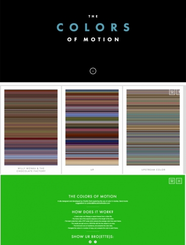 eCommerce website: The Colors Of Motion